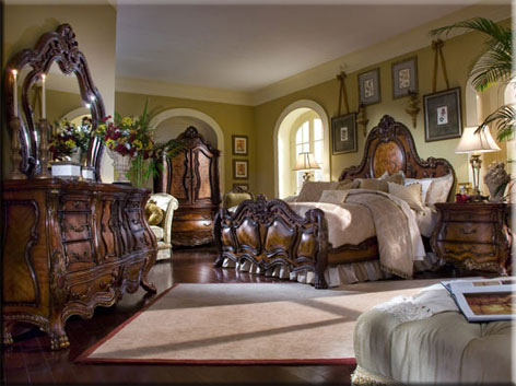 Chateau Beauvais Bed Set Collection By Aico Black Swan Furniture