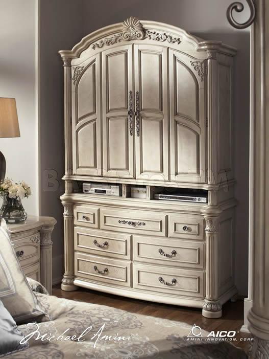 monte carlo poster canopy bedroom set aico ii silver snow pearl media cabinet