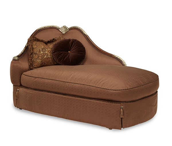 Model 57842 gdiva 51 for Aico trevi leather armless chaise in brown