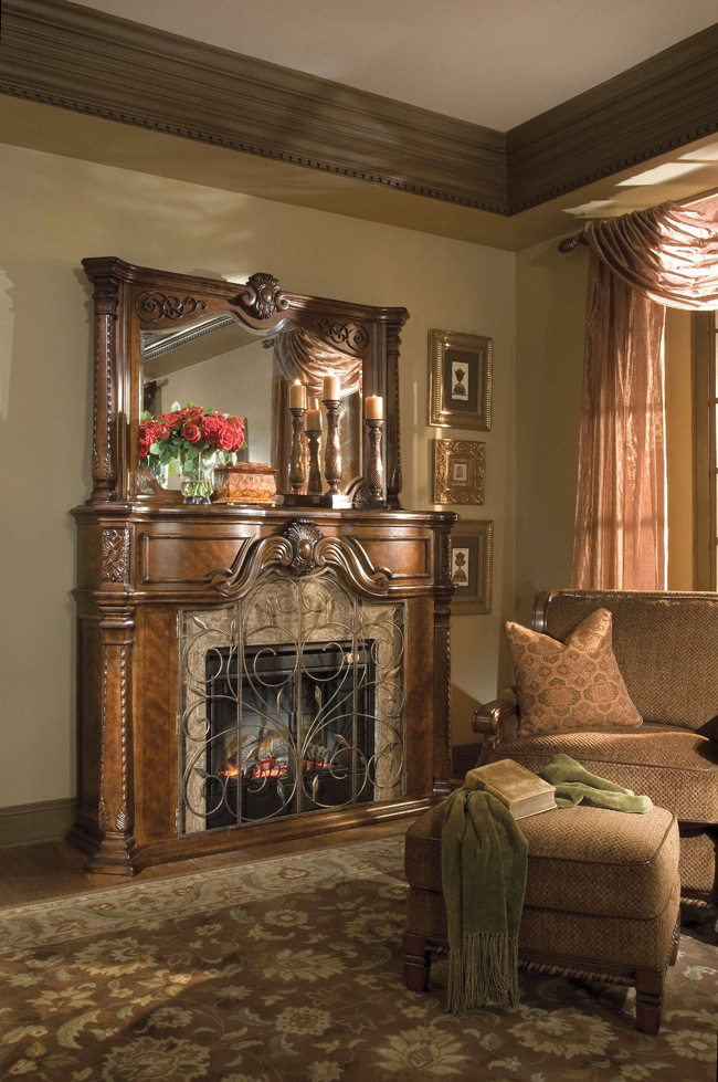 Old World Tuscan Fireplaces And Fireplace Screens On
